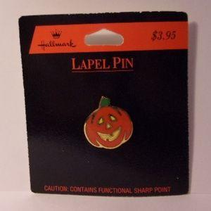Vintage Hallmark Halloween Pumpkin Lapel Pin